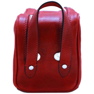 Leather Dopp Travel Kit Bag Floto end