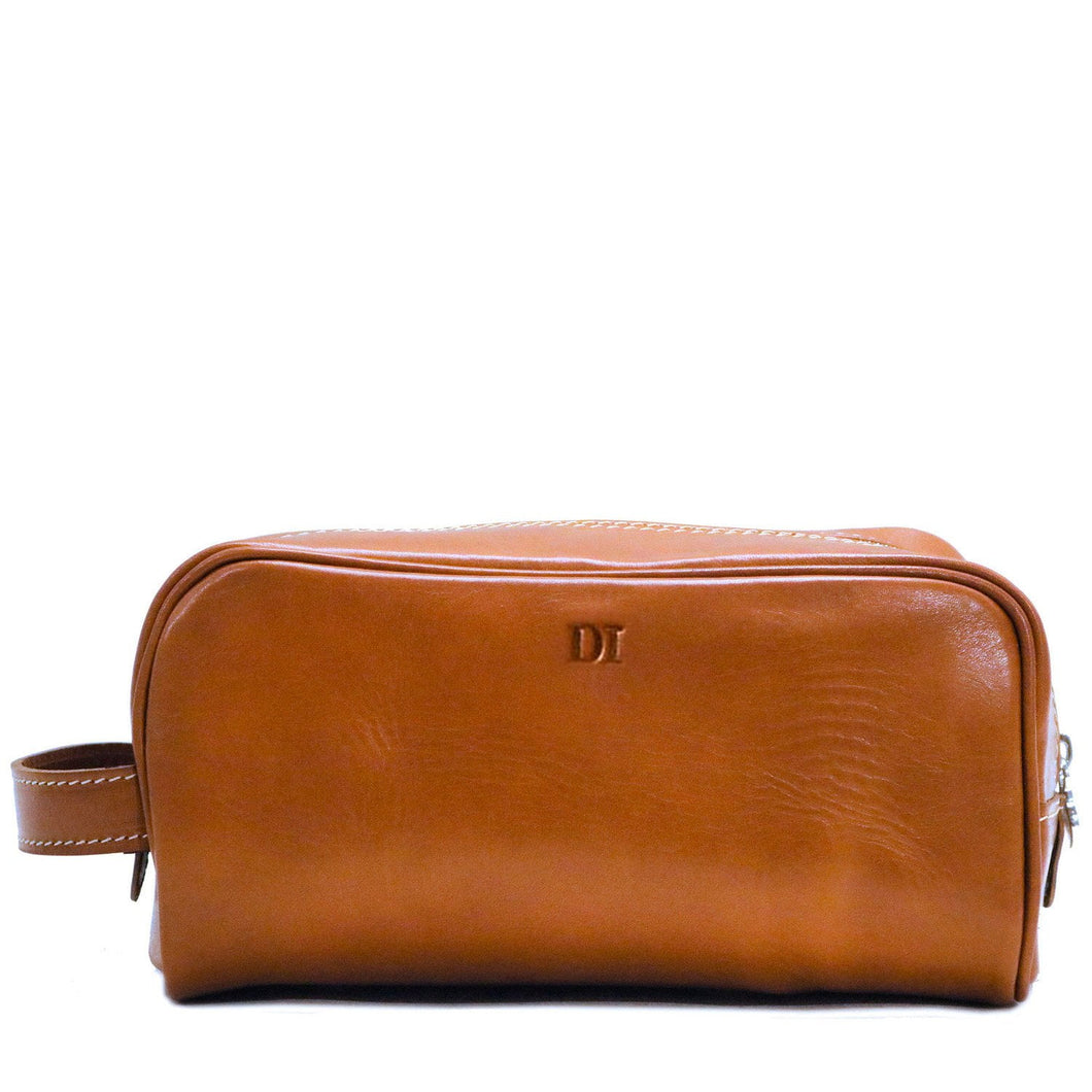 Floto Italian Leather Dopp Travel Kit Tempesti monogram
