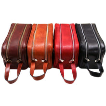 Load image into Gallery viewer, Leather Dopp Travel Kit Bag Floto all