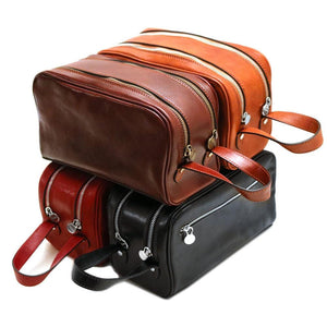 Leather Dopp Travel Kit Bag Floto
