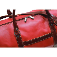 Load image into Gallery viewer, floto lugano cabin duffle bag carryon red and brown