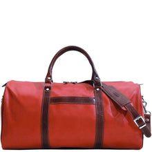 Load image into Gallery viewer, floto lugano cabin duffle bag carryon red brown