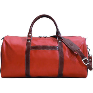 floto lugano cabin duffle bag carryon red and brown