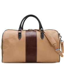 Load image into Gallery viewer, Italian Leather Duffle Bag Floto Venezia Aspen in Ivory and Brown
