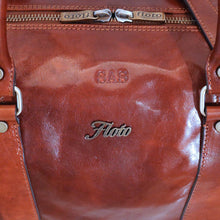 Load image into Gallery viewer, leather duffle bag floto monogram