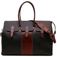 Load image into Gallery viewer, floto lugano gladstone duffle bag carryon black