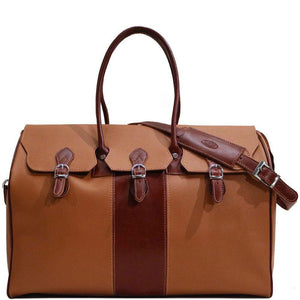 floto lugano gladstone duffle bag carryon brown