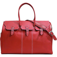 Load image into Gallery viewer, floto lugano gladstone duffle bag carryon red