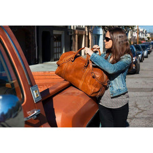 leather duffle bag floto parma