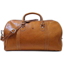 Load image into Gallery viewer, leather duffle bag floto parma monogram