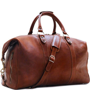 Floto Roma Italian Leather Travel Bag brown