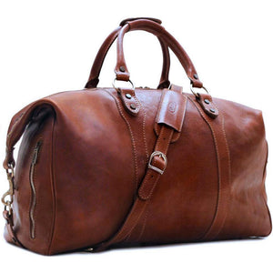 Leather Travel Duffle Bag Roma Monogram