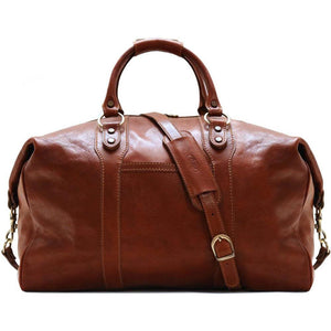 Floto Roma Italian Leather Travel Bag brown 2