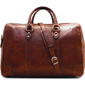 Leather Duffle Bag Brown Floto Roma