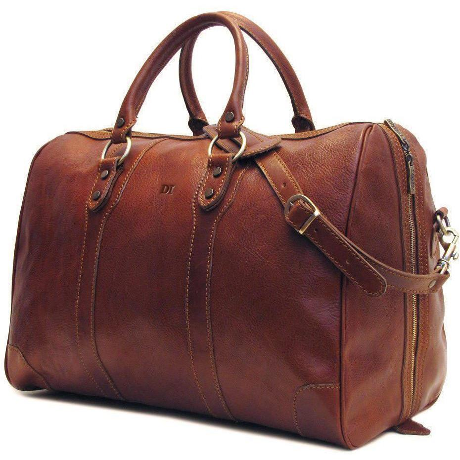 leather duffle bag floto roma monogram