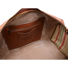 Load image into Gallery viewer, Floto Italian Leather Duffle Bag Venezia Pocket in Tempesti Brown 5