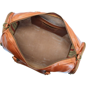 Floto Italian Leather Duffle Bag Venezia Pocket in Tempesti Brown 6