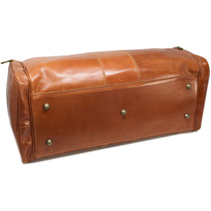 Floto Italian Leather Duffle Bag Venezia Pocket in Tempesti Brown 7
