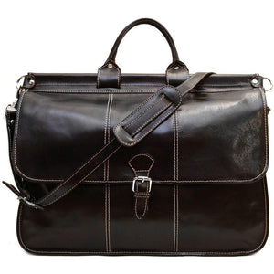 Floto Italian Leather Vaggo Duffle Travel Bag Weekender 4
