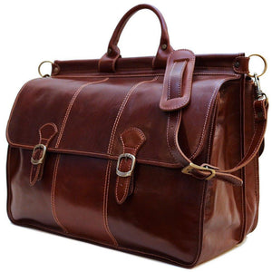 Floto Italian Leather Vaggo Duffle Travel Bag Weekender 2