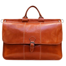 Load image into Gallery viewer, Floto Italian Leather Vaggo Duffle Travel Bag Weekender 3