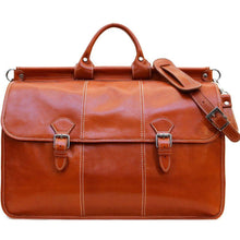 Load image into Gallery viewer, Floto Italian Leather Vaggo Duffle Travel Bag Weekender olive honey brown
