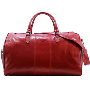 Floto Italian Leather Duffle Bag Venezia 2.0 Travel Bag monogram