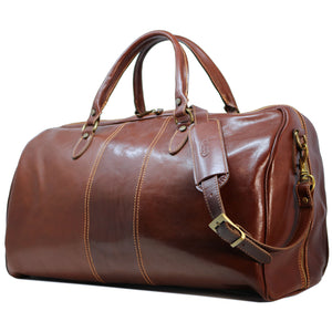 Floto Italian Leather Venezia Duffle Travel Bag Luggage brown 2