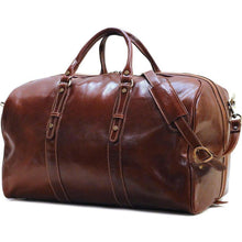 Load image into Gallery viewer, Leather Duffle Bag Floto Venezia Grande angle