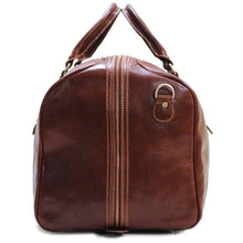 Load image into Gallery viewer, Leather Duffle Bag Floto Venezia Grande end