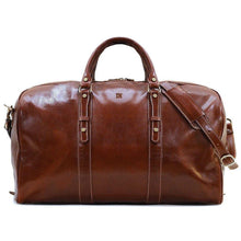 Load image into Gallery viewer, leather duffle bag monogram