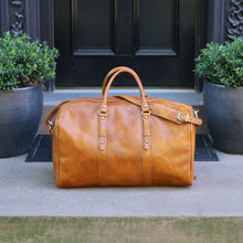 Load image into Gallery viewer, Leather Duffle Bag Floto Venezia Grande tobacco 3