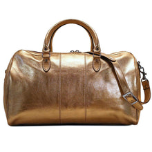 Load image into Gallery viewer, Leather Travel Duffle Bag Floto Venezia gold