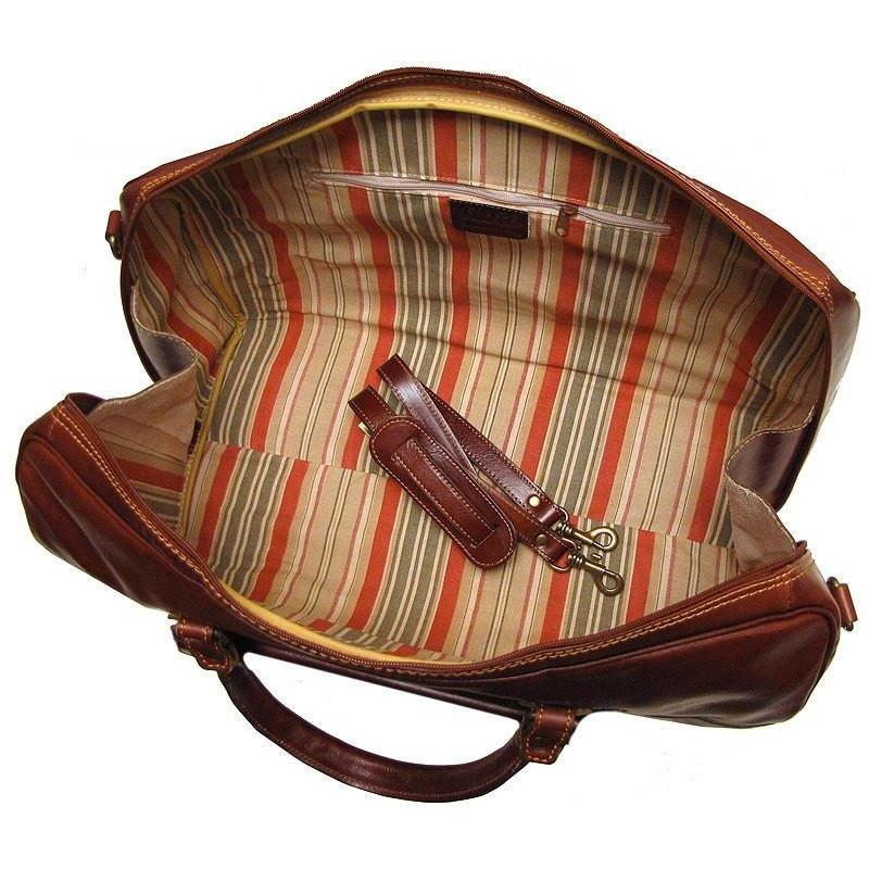 5d2e1c5c2921 Floto Venezia Florence Italian Leather Travel Bag in Yellow and Brown