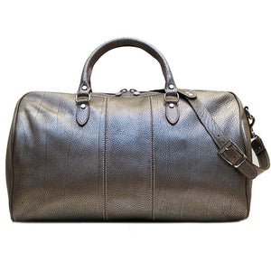Leather Travel Duffle Bag Floto Venezia silver