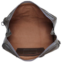 Load image into Gallery viewer, Leather Travel Duffle Bag Floto Venezia silver inside