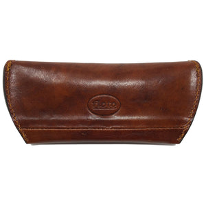 Floto Leather Glasses Case eyeglasses sunglasses luxury stash case brown back