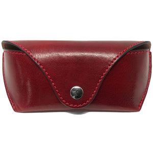 Floto Leather Glasses Case eyeglasses sunglasses luxury stash case red