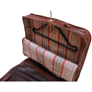 leather garment bag floto venezia brown