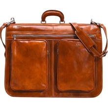 Load image into Gallery viewer, leather garment bag floto venezia olive honey brown monogram
