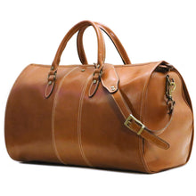 Load image into Gallery viewer, Floto Italian Leather Garment Duffle Travel Bag Venezia in Tempesti monogram 2