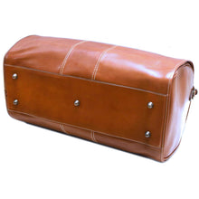 Load image into Gallery viewer, Floto Italian Leather Garment Duffle Travel Bag Venezia in Tempesti monogram 5
