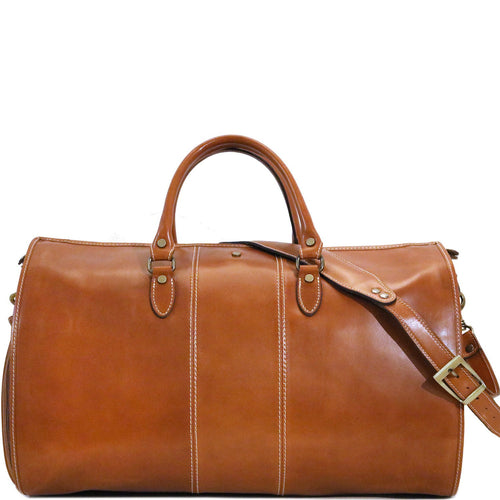Floto Italian Leather Garment Duffle Travel Bag Venezia in Tempesti front
