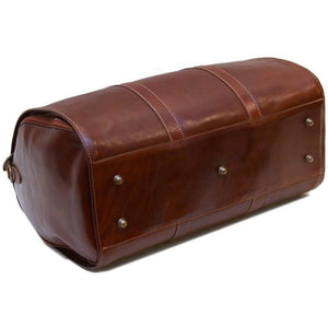 leather garment duffle bag