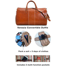 Load image into Gallery viewer, Floto Venezia Garment Leather Duffle Travel Bag tempesti