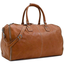 Load image into Gallery viewer, Floto Italian Parma Leather Converible Garment Duffle Bag 2