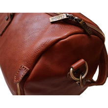 Load image into Gallery viewer, leather convertible garment duffle bag