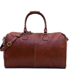 Load image into Gallery viewer, Floto Italian Roma leather convertible garment duffle bag