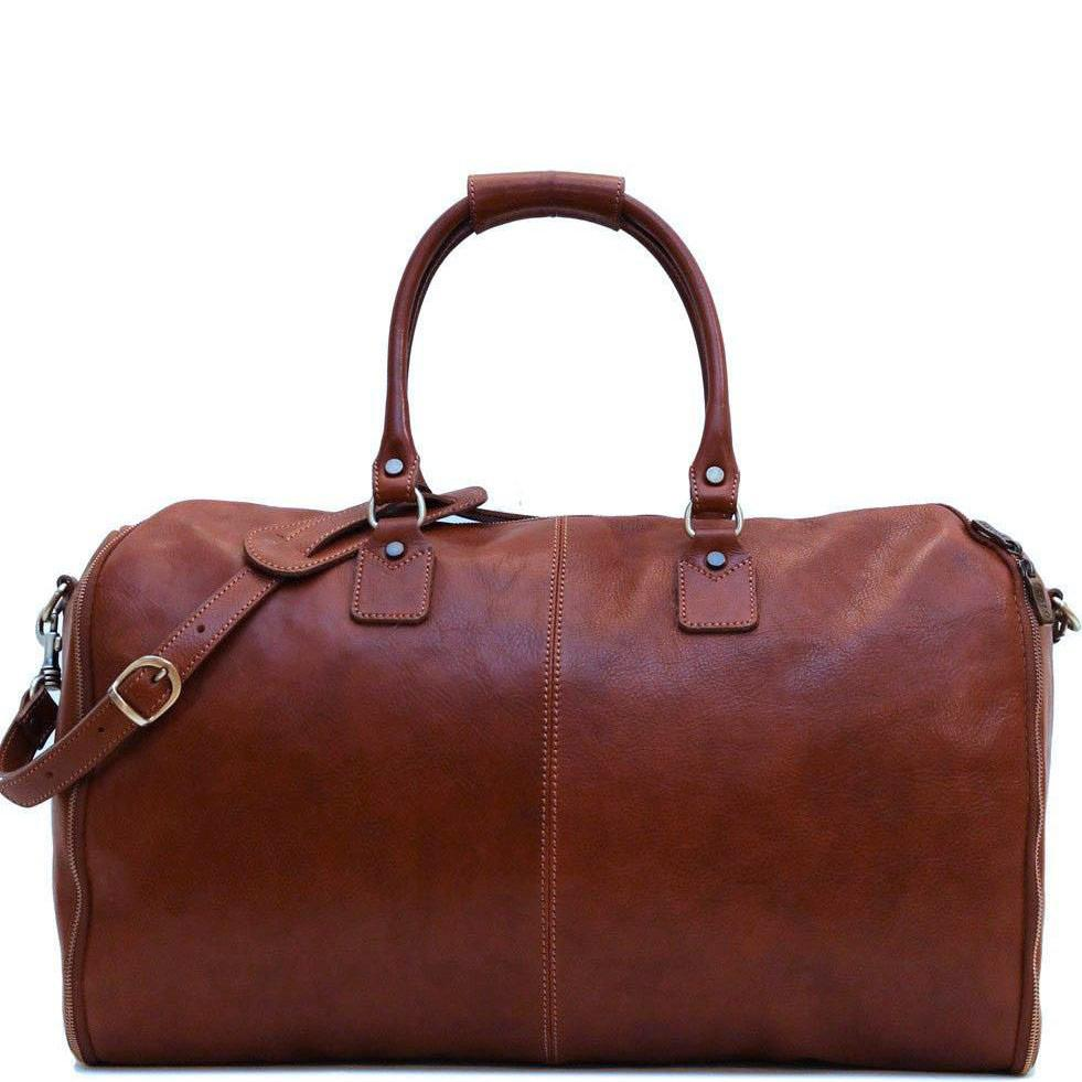 Floto Italian Roma leather convertible garment duffle bag