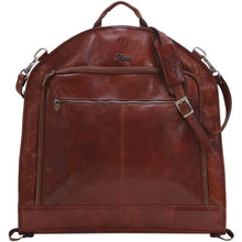 Load image into Gallery viewer, leather garment suit bag floto monogram